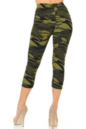 Wholesale Buttery Soft Lavish Garden Plus Size Capris