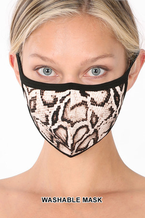 Brown Wholesale Snakeskin Face Mask - Imported