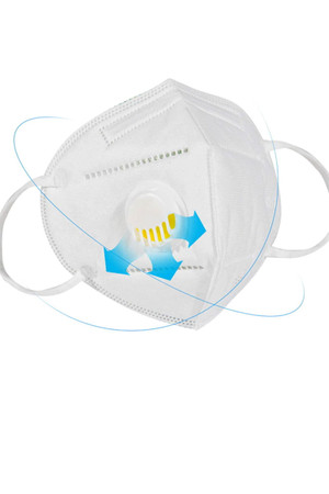 Wholesale KN95 Face Mask with Air Valve - Singles - Individually Wrapped