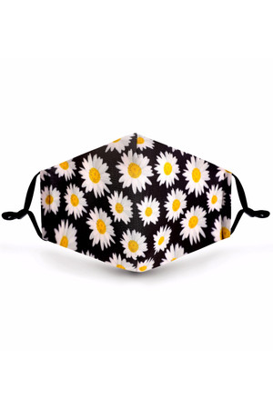 Wholesale Forever Daisy Graphic Print Face Mask