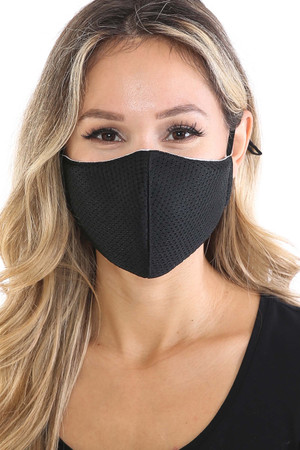 Wholesale Breath Easy Perforated Mesh Face Mask with PM2.5 Rear Pocket