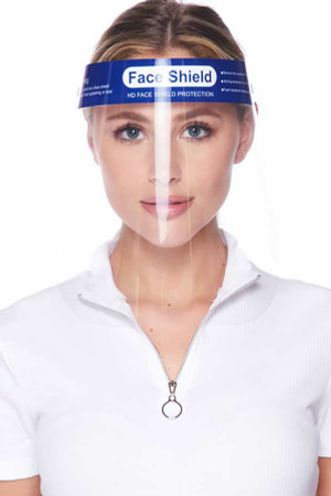 Wholesale Protective Face Shields - Anti Splash Film with Elastic Band and Comfort Sponge