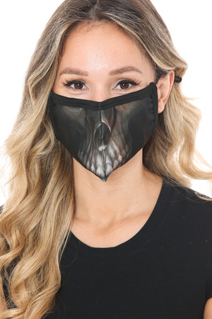 Wholesale Dark Skull Graphic Print Face Mask