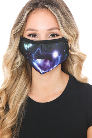 Wholesale Galactic Flare Graphic Print Face Mask
