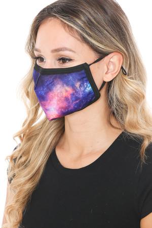 Wholesale Nebula Galaxy Graphic Print Face Mask