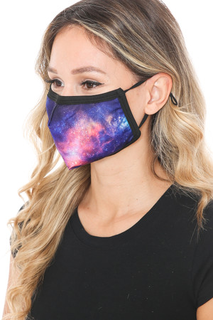 Wholesale Nebula Galaxy Graphic Print Face Mask