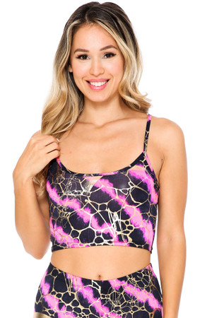 Wholesale Colorcade Plus Size Spaghetti Strap Crop Top - Made in USA - LIMITED EDITION
