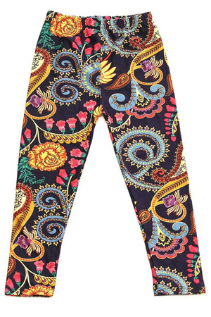 Wholesale Buttery Soft Color Graffiti Kids Leggings