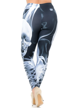 Wholesale Creamy Soft Skeleton Resurrection Extra Plus Size Leggings - 3X-5X - USA Fashion™