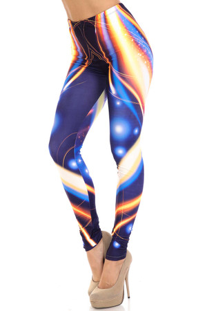 Wholesale Creamy Soft Psychedelic Contour Extra Plus Size Leggings - 3X-5X - By USA Fashion™