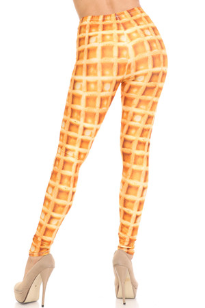 Wholesale Creamy Soft Waffle Extra Plus Size Leggings - 3X-5X - By USA Fashion™