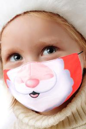 Wholesale Santa Smile Kids Christmas Face Mask