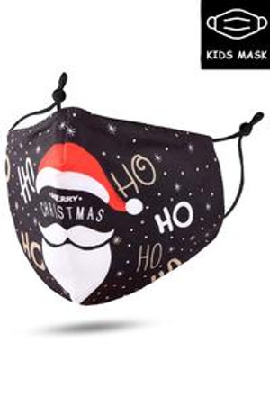 Wholesale Ho Ho Santa Beard and Hat Kids Christmas Face Mask
