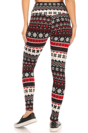 Wholesale Soft Fleece Snowflake Blizzard Holiday Leggings