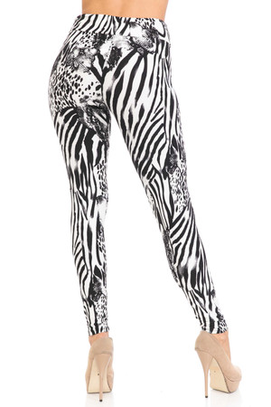 Wholesale Buttery Soft Wild Safari Plus Size High Waisted Leggings