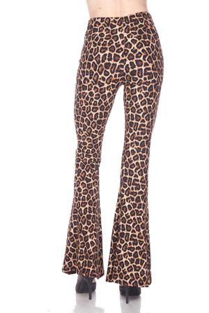 Wholesale Buttery Soft Leopard Bell Bottom Leggings