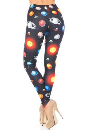 Wholesale Creamy Soft Galaxy Planets Plus Size Leggings - USA Fashion™