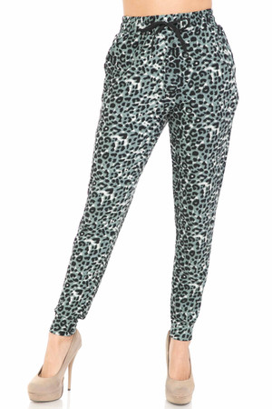 Wholesale Buttery Soft Snow Leopard Joggers