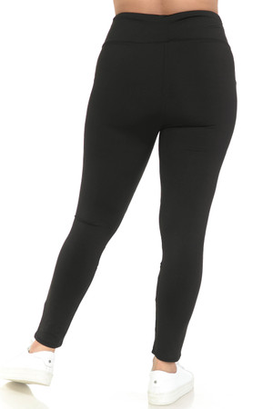 Wholesale Black Cruiser CrissCross Plus Size Sport Leggings