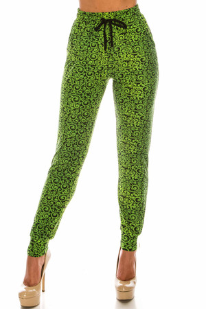 Wholesale Buttery Soft Green Irish Vine Joggers - LIMITED EDITION
