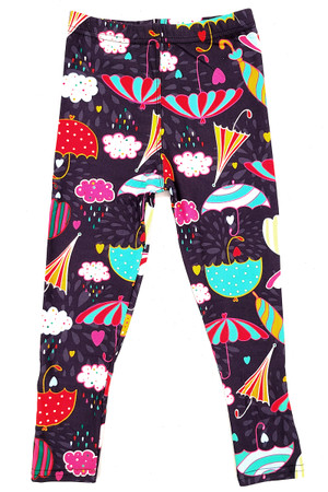 Wholesale Buttery Soft Colorful Umbrella Kids Leggings