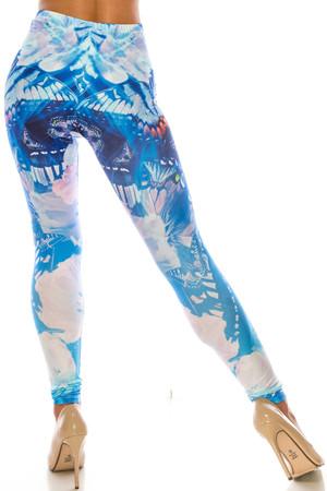 Wholesale Creamy Soft Reflecting Butterflies Leggings - USA Fashion™