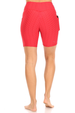 Wholesale Scrunch Butt High Waisted Sport Shorts with Pockets