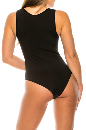 Wholesale Seamless Basic Bodysuit with Snap Closure