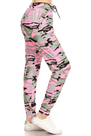 Wholesale Buttery Soft Cotton Candy Pink Plus Size Joggers