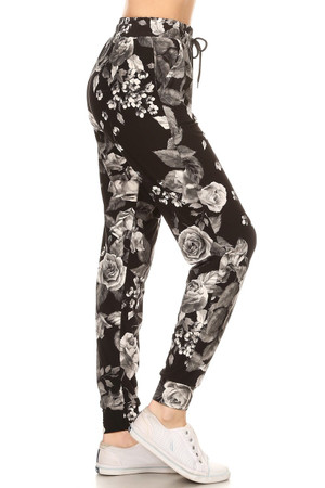 Wholesale Buttery Soft Monochrome Rose Joggers