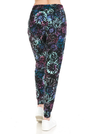 Wholesale Buttery Soft Tie Dye Burst Plus Size Joggers