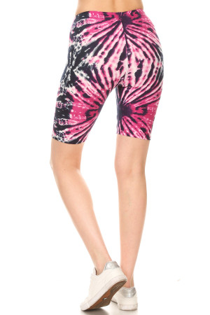 Wholesale Buttery Soft Fuchsia Tie Dye Shorts