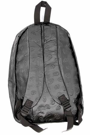 Wholesale Black Skull Embossed Faux Leather Backpack