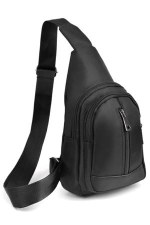 Wholesale Black Faux Leather Crossbody Sling Bag