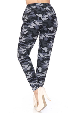 Wholesale Buttery Soft Charcoal Camouflage Joggers - New Mix