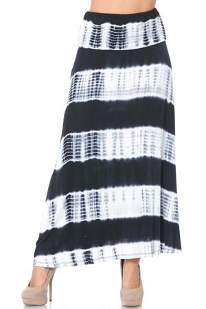Wholesale Tie Dye Rayon Maxi Skirt