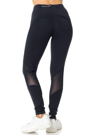 Wholesale Premium Panel Mesh Sport Workout Leggings