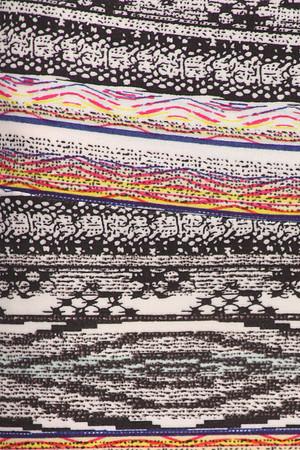 Wholesale Buttery Soft Tribal Cascade Maxi Skirt