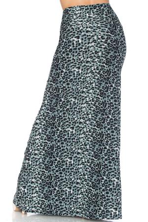 Wholesale Buttery Soft Snow Leopard Plus Size Maxi Skirt