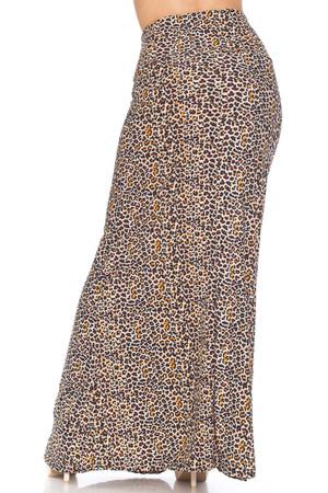 Wholesale Buttery Soft Savage Leopard Plus Size Maxi Skirt