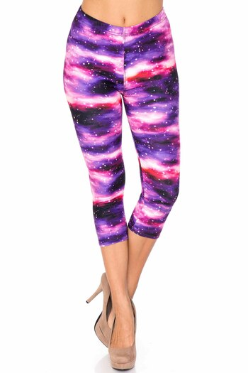 Wholesale Creamy Soft Purple Mist Capris - USA Fashion™