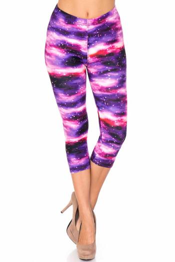 Wholesale Creamy Soft Purple Mist Plus Size Capris - USA Fashion™