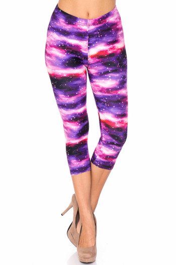 Wholesale Creamy Soft Purple Mist Extra Plus Size Capris - 3X-5X - USA Fashion™
