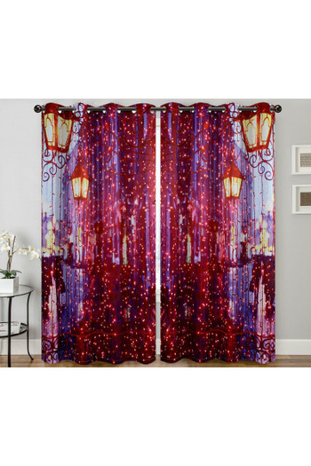 "Wholesale City Night Lights Digital Print 2 Panel Curtain Set - 27"" x 90"""