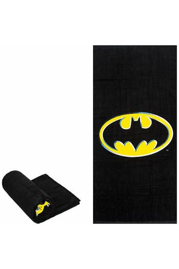 Wholesale Batman Logo Oversized Cotton Beach Towel