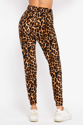 Wholesale Buttery Soft Bold and Beautiful Leopard Plus Size Joggers - New Mix