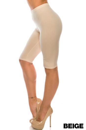 Wholesale Buttery Soft Basic Solid Extra Plus Size Biker Shorts - 3X-5X - USA Fashion