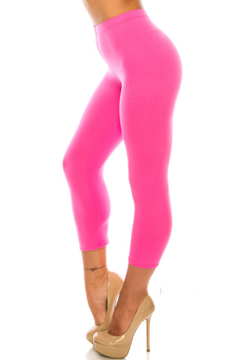Wholesale Buttery Soft Basic Solid Capris - USA Fashion