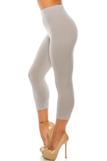 Wholesale Buttery Soft Basic Solid Plus Size Capris - USA Fashion
