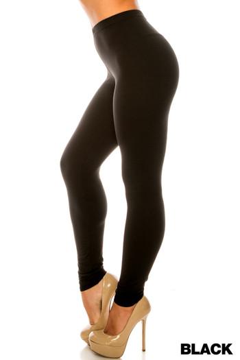 Wholesale Buttery Soft Basic Solid Plus Size Leggings - USA Fashion